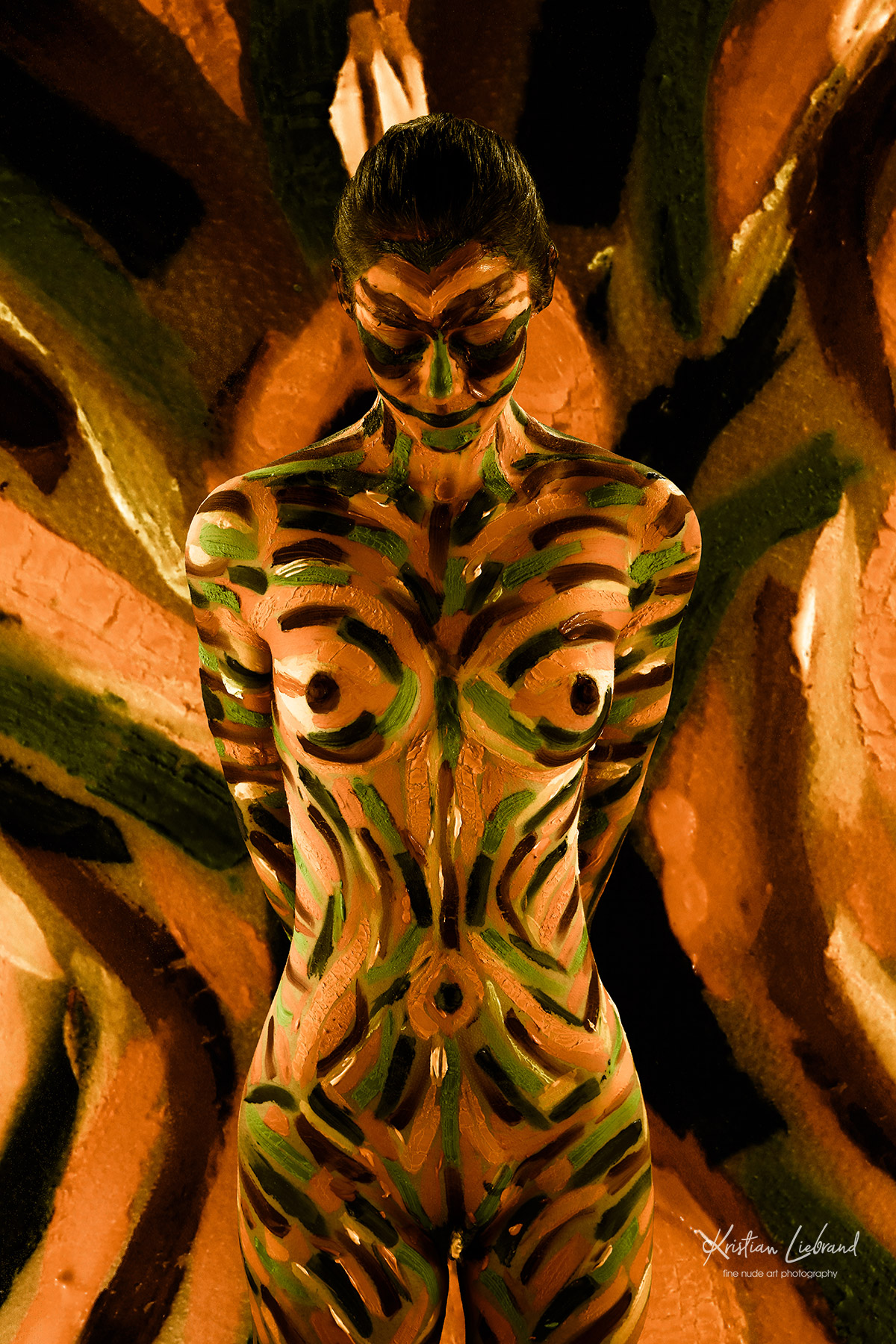 Fine nude art bodypainting Fotoshooting
